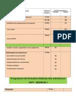3 -PROGRAMME DE FORMATION