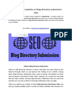 How to submit website on blog directory submission sites