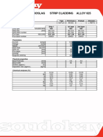 WPS Alloy 625 strip with flux EST 236