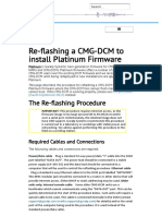Re-flashing a CMG-DCM to install Platinum Firmware