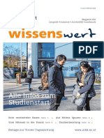 wissenswert Februar 2020 - Magazin der Leopold-Franzens-Universität Innsbruck