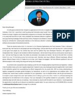 Cover Letter - Andika Supriatmo Sinarmas Indonesia