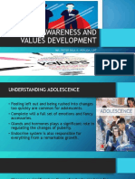 SELF-AWARENESS AND VALUES DEVELOPMENT