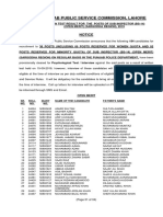 38-RG SUB INSPECTOR (SARGODHA REGION) (OPEN MERIT)
