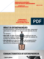 Entrepreneurs and Self Employment Policies