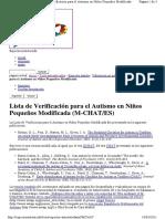 Lista de Verificación para el Autismo en Niños Pequeños Modificada (M-CHAT ES)