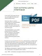 Production Kitting Using WM-PP Interface