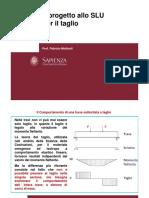 Il progetto allo SLU per il taglio. Prof. Fabrizio Mollaioli (1)