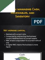 tools in managing cash