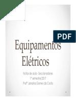 Equipamentos Elétricos - seccionadores