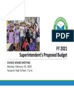 FY 2021 Supts Proposed Budget