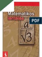 Matematikos lenteles