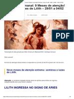 Astrologia Semanal_ 9 Meses de atenção! Sombras e luzes de Lilith - 29_01 a 04_02 ⋆ Nilton Schutz