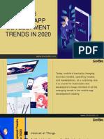 Top Mobile App Development Trends in 2020