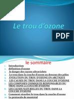 Le trou d'ozon