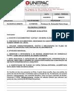 DOCUMENTÁRIO JUSTIÇA - Segunda Atividade de Filosofia e Direito - N1