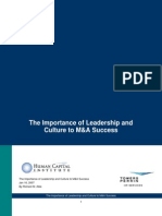 Towersperrin_09_the Importance of Leadership and Culture to M&a Success