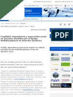 Fragilidad, dependencia y repercusión social en ancianos atendidos por el Equipo Multidisciplinario