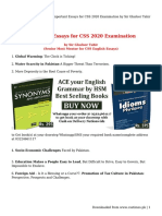 Important Essays for CSS 2020 Examination by Sir Ghafoor Tahir