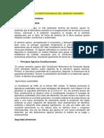 BASES O PRINCIPIOS CONSTITUCIONALES DEL DERECHO AGRARIO