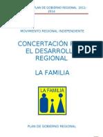 Plan de Gobierno LA FAMILIA - Nelson Chui Mejía - 2010