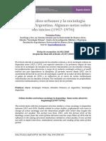 Los Estudios Urbanos Y La Sociologia Urbana