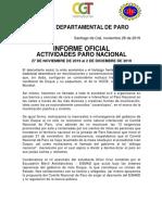 COMUNICADO COMANDO DEPARTAMENTAL UNITARIO 26 NOV 2019