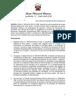 Res. 189-2019-JNE renuncias y licencias