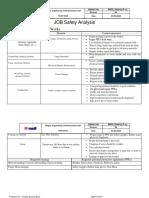 Concreting Job safety analysis (JSA)