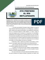 Protege juez federal río Metlapalapa