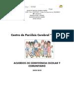 ACUERDOS DE CONVIVENCIA ESCOLAR  COMUNITARIO con correcciones.doc