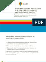 T.14 Pautas en la elaboración de programas de modificación de conducta.