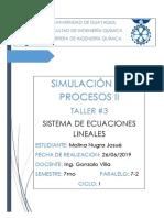 TALLER3_SISTEMA _DE_ECUACIONES_LINEALES_JOSUE_MOLINA