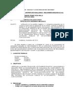 INFORME INGENIERO MECANICO