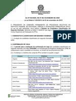 07.02 - Edital PS Superiores - Relação de classificados em 2ª chamada