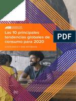 Las 10 Principales Tendencias Globales  de consumo 2020