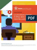 La procédure d'appel d'offres dans les marchés publics