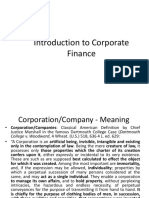 class - I Introduction to Corporate Finance