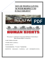 CONDITION OF PEOPLE LIVING IN SLUM WITH RESPECT TO HUMAN RIGHTS