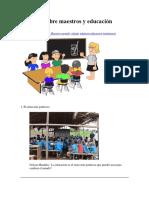 10 frases sobre maestros y educación