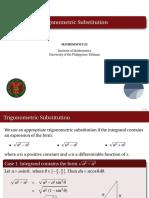HOM22 Lec1.3 Trigonometric Substitution
