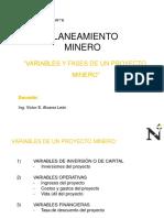 4.0 Variables y Fases de Un Proyecto Minero