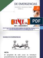 CURSO MANEJO DE EMERGENCIAS