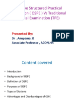 Objective Structured Practical Examination ( OSPE ) Vs