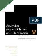 Analysing Anti-Black Racism in Modern China (Public)