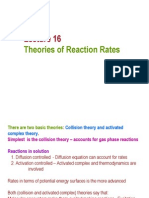 Lecture 16 Theories of Reaction Rates