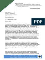 Kalamazoo County Health Department Letter