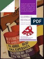 Reseña de Guerra o Revolución. El Partido Comunista de España en La Guerra Civil.