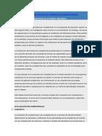 Articulo sobre la importante evaluacion por competencia en el ámbito educativo