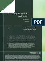 Acción social solidaria sena